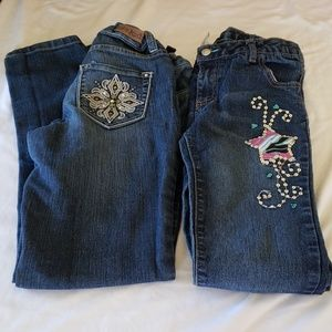 2 Lot  Pairs 12 Jeans Mudd Faded Glory  Straight